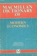 دیکشنری اقتصاد مدرن - مک میلان Macnilan Dictionary of Modern Economics